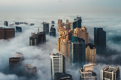Cloud City II (Sebastian Tontsch) Tags: dubai fog cityscape clouds