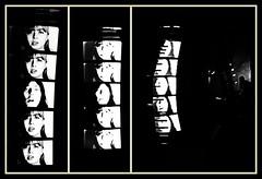 1 - Paris - Nuit Blanche et entours - Cloître des Billettes, Valérie Giovanni, Voir la voix - Moments (melina1965) Tags: octobre october 2019 îledefrance paris panasonic lumix dmctz57 nuitblanche mosaïque mosaïques mosaic mosaics collages collage noiretblanc blackandwhite bw 4earrondissement lumière light sculpture sculptures église églises church churches
