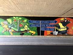 Streetart under the bridge @ Oude Baan Leuven (Kristel Van Loock) Tags: streetart mural streetartleuven leuven louvain lovanio lovaina löwen atleuven seemyleuven visitleuven leveninleuven drieduizend iloveleuven loveleuven leuvenlove oudebaanleuven underthebridge onderdebrug oudebaan artwork tomcech tomcechartwork muralart leuveninbeeld vlaamsbrabant flanders fiandre flandre flemishbrabant brabantflamand brabantefiammingo visitflemishbrabant visitvlaamsbrabant vlaanderen visitbelgium streetartbelgium colorfulstreetart colorful painting streetartisttomcech beautifulstreetart s komopvoorjewijk stadleuven opmaatvanonzestraat brug bridge