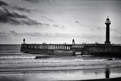 Whitby Pier (Andreadm66) Tags: seascape coast yorkshire northyorkshire seaside reflection beach sea pier lighthouse whitby
