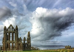 Whitby Abbey in the clouds (Andreadm66) Tags: clouds sky landscaoe englishheritage abbey northyorkshire whitbyabbey whitby