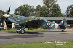 SPITFIRE-TR9-DB-E-(G-CICK)-NH341-29-9-19-NORTH-WEALD-JET-FEST-19 (Benn P George Photography) Tags: northweald 29919 jetfest bennpgeorgephotography hunter wv322 spitfire nh341 c54q 56498 jessica uh1h ghuey ae413 proserved warbird royalairforce royalnavy usnavy nikond7100 nikon18105vr