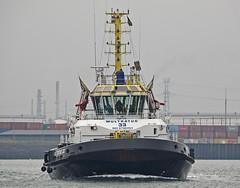 MULTRATUG 33 (kees torn) Tags: multratug33 multratug32 multraship tug damenshipyard europoort denieuweprins ret fastferry maersknimes beerkanaal containerschepen