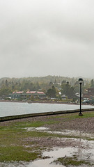 Grand Marais (Lzzy Anderson) Tags: grandmarais minnesota northshore upnorth october 2019 autumn lake water lakesuperior fog mist clouds stormclouds rain storm overcast woods forest changingleaves