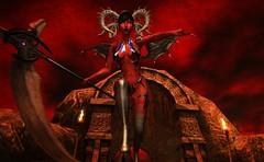 Demoness Goes To War (beccaprender) Tags: catwa catya bento maitreya lara emotions fallengods aii conviction sweetthing demon demoness pandemonium