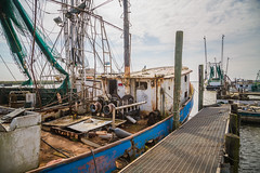 Rust Bucket (Brad Prudhon) Tags: 2019 boats commercial dock fishing fleet lakecharles louisiana march nets portofcameron rigging shrimp trawlers ships