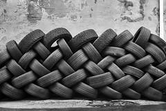 Urban Braid (mfhiatt) Tags: img17570919 tires braid patern desmoines downtown urban urbanlandscape iowa blackandwhite minimalism