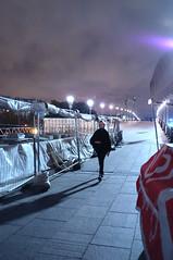 DSCF5264 (Mike Pechyonkin) Tags: 2019 moscow москва sky небо girl woman девушка bridge мост streetlight фонарь crane кран night ночь