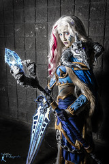 Awesome Con - Frost Lich Jania (2) (FightGuy Photography) Tags: gcchan awesomecon gcchancosplay cosplay womenofcosplay worldofwarcraft staff sword weapon armor whitehair