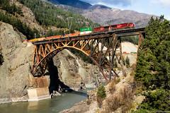 CP 8941 ~ Cisco (Chris City) Tags: train railway railroad containers intermodal freight bridge canyon river cpr cnr cisco ashcroft