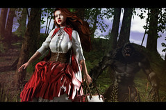 Into the Woods (Jangsungyoung Resident) Tags: second life fashion events arcade fantasy roleplay una doux little red riding hood big bad wolf
