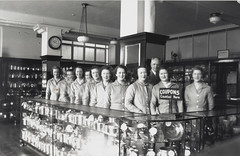 Group from the coupon department, Bushells Tea Factory, Sydney, 1936-1937 (State Library of New South Wales collection) Tags: street houses coffee 1930s workers sydney therocks wylde demolished kismet atherton harrington manufacturing tea bushells