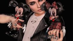 Punk Mickey & Punk Minnie (tralala.loordes) Tags: tralalaloordes tralala tra deadmorerings peculiarthings secondlife sl slfashionblogging slblogging rings anthem curemore addams zibska mickeyminnie flickrblogging flickrart fashion fantasy virtualphotography virtualreality vr avatar punk