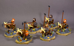 Dwarf Faction Regular Unit: Ram Riders of Clan Stonehorn (WarScape) Tags: dwarf lego fantasy medieval army custom castle unit throng ram rider axe spear goat cavalry mount regular warscape mountain crag beast