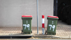 79 x 2 (Theen ...) Tags: post driveway kenttown theen pavers hydrant footpath lumix red kingwilliamstreet wall wheelie adelaide bin marker white