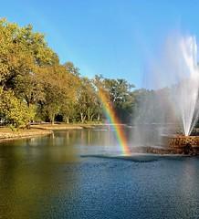 Rainbow in the Lagoon, Ta-Ha Zouka Park, Norfolk, Photo by CRudin (ali eminov) Tags: norfolk nebraska parks tahazoukapark lagoons rainbows