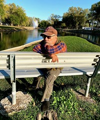 Ali meditating, Ta-Ha Zouka Park, Norfolk, Photo by CRudin (ali eminov) Tags: norfolk nebraska parks tahazoukapark people ali lagoons