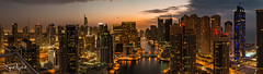 Dubai at Dusk (David Axford Photos) Tags: dubai middleeast region unitedarabemirates dusk marina night