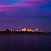 Toronto at sunset.  Handheld.