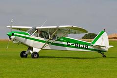 G-BIJB Piper PA18150 Super Cub EGBK 01-09-12 (MarkP51) Tags: gbijb piper pa18150 supercub sywell aerodrome orm egbk england generalaviation aircraft airplane plane image markp51 nikon d5000 sunshine sunny