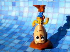 Upside Down Woody (Vicki LW) Tags: disney sheriffwoodypride toystory sheriff woody toy crazytuesday upsidedown 592019 59119 isolatedobject