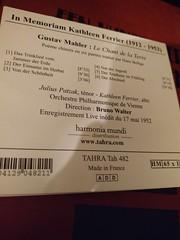 (clascaris) Tags: patzak ferrier lieddererde gustavmahler brunowalter 1952 derabschied viennaphilharmonic october72019 juliuspatzak kathleenferrier muzi norman jessyenorman19452019