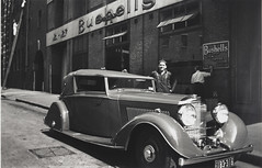 Phillip Bushells Bentley, Harrington Street, Sydney, 1936-1937,  PXE 1554 (State Library of New South Wales collection) Tags: bushells tea manufacturing sydney 1930s coffee workers harrington atherton street therocks kismet wylde demolished houses bentley