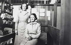 Two Women in the Coupon Department, Bushells Tea Factory Building, Sydney, 1936-1937,  PXE 1554 (State Library of New South Wales collection) Tags: bushellstea manufacturing sydney 1930s coffee workers harrington atherton street therocks kismet wylde demolished houses
