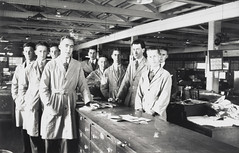 The office staff, Bushells Tea Factory, Sydney, 1936-1937 (State Library of New South Wales collection) Tags: bushells tea manufacturing sydney 1930s coffee workers harrington atherton street therocks kismet wylde demolished houses