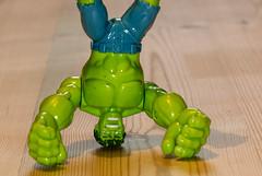 Crazy Tuesday - Upside Down (alisonhalliday) Tags: toys incrediblehulk green crazytuesday upsidedown canoneos77d sigma105mm macro closeup cmwdgreen cmwd