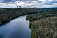 Backwater (The Adventurous Eye) Tags: mohelno vysočinaregion czechrepublic dam přehrada water reservoir artifical lake aerial landscape photography