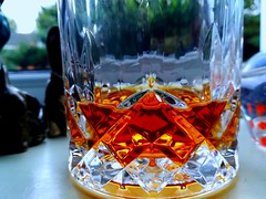 Bourbon. (daveandlyn1) Tags: crystalglass glass bourbon closeup macro ambernectar whiskeybourbon pralx1 p8lite2017 huaweip8 smartphone psdigitalcamera cameraphone