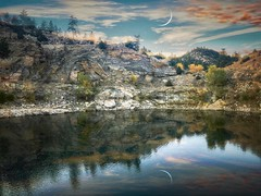 The Hidden Quarry (DeeAshley) Tags: tangledfx explore paisaje landscape reflection symmetry
