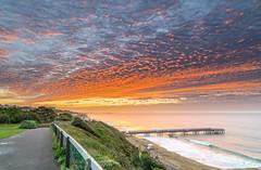Red Sky Pier (nicklucas2) Tags: seascape beach pier sand sea seaside solent cloud sunrise boscombe dorset