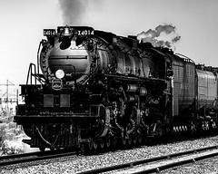 02469376422985-117-19-10-Union Pacific Big Boy Locomotive-10-Black and White (Don't Mess With Jim) Tags: america bigboy canon5dmarkiv nevada southwest tamronsp1530mmf28divcusd train usa unionpacific locomotive nearlasvegas rail steam tracks monochrome blackandwhite