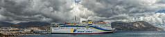 The Ferry has arrived (WS Foto) Tags: ferry pigadia karpathos greece dodekanes dodecanes griechenland greekislands griechischeinseln fähre fährschiff ägäis sky cloudy himmel bewölkt wolken panorama