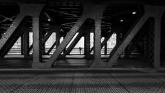 Shooting Under Outer (Torsten Reimer) Tags: unitedstatesofamerica outerdrivebridge photographer monochrome northamerica chicago brücke illinois bridge schwarzweis blackandwhite usa canoneosm5