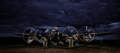 Fire up the engines (waynedavey67) Tags: canon 5ds canoneos5ds tripod 1635mmlf4 longexposure nightphotography lowlight nightsky wwll lancaster lancasterbomber bomber airdisplay aircraft airoplane engines muesum