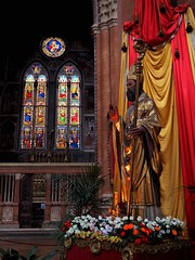 Saint Petronius (█ Slices of Light █▀ ▀ ▀) Tags: san petronio basilica saint petronius statue central nave interior chapel magi giovanni di pietro falloppi 教堂 church 教會 cathedral 主教座堂 christian catholic rome 羅馬 罗马 roma italia 意大利 italy olympus em1