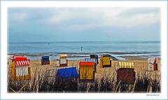 End of season (Badenfocus_1.500.000+ views_Thanks) Tags: badenfocus duhnen cuxhaven strand beach wattenmeer elbe fujifilmx20 strandkorb bunt gelb blau rot yellow blue red