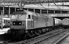 No heat Class 47 47268 at Birmingham New Street 1979. (flashbangmilly) Tags: 47268 liverpool sunday nst