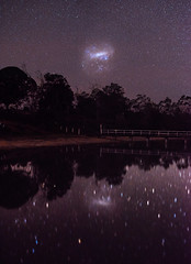Large Magellanic Cloud at Lake Towerrinning, Western Australia (inefekt69) Tags: large magellanic cloud lake towerrinning reflections panorama stitched mosaic southern hemisphere cosmos western australia dslr long exposure rural night photography nikon stars astronomy space galaxy astrophotography outdoor ancient sky 35mm d5500 landscape tracked ioptron skytracker star tracking