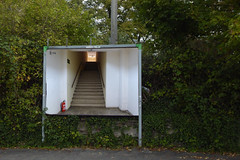 Jacob's Ladder 5780 (erix!) Tags: collage billboard treppenhaus staircase gnuimagemanipulationprogram gebüsch biushes