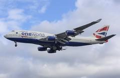 British Airways (Oneworld livery) Boeing 747-436 G-CIVK (josh83680) Tags: heathrowairport heathrow airport egll lhr gcivk boeing boeing747436 747436 boeing747400 747400 oneworld livery oneworldlivery one world britishairways british airways
