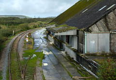 Treviscoe Loading Sheds (Rogpow) Tags: chinaclay cornwall industrial littletreviscoe treviscoe railway shed derelict dilapidated fujixpro2