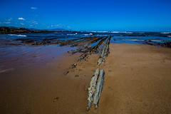 Baskenland0053Sopela (schulzharri) Tags: baskenland basque spanien spain espana bilbao reise travel strand beach meer ocean atlantik sonnenuntergang felsen rock water himmel wasser sky