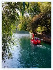 Dragon boat (overthemoon) Tags: uk northyorkshire scarborough peasholmpark green peaceful bucolic park greenery water lake england