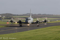 140104 Lockheed CP-140 Aurora Canadian Airforce Prestwick airport EGPK 07.10-19 (rjonsen) Tags: plane airplane aircraft aviation military maritime surveilance airside taxying joint warrior
