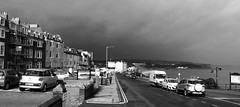Gathering storm in black & white (phil da greek) Tags: blackwhite storm queen'sparade northbay uk northyorkshire scarborough