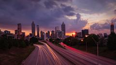 Sunset Atlanta (pboolkah) Tags: canon canon5d canon5dmkiv usa atlanta sunset traillights marriott city cityscape traffic trails dusk twilight walkingdead